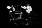 """Picture from the production """"The Guest"""" by Arlekin Players Theatre. Fight to the dead on sabres."""
